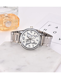 Fashion Silver Alloy Strap Adjustable Butterfly Electronic Watch