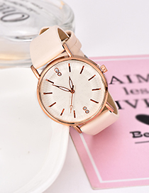 Fashion Beige Pu Alloy Electronic Watch