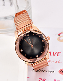Fashion Black Alloy Strap Electronic Element Watch