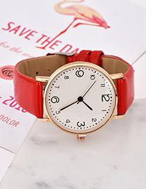 Reloj Electrónico Color Sólido De Aleación Pu.