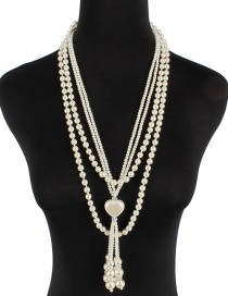 Fashion Milky Love Pearl Hanging Knot Sweater Chain