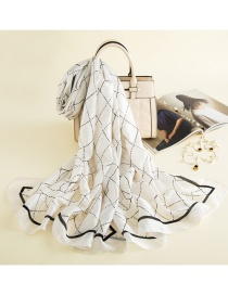 Fashion White Scarf Shawl Dual-use Collar