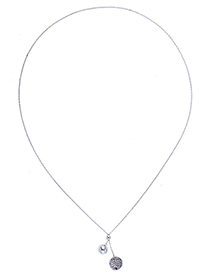 Fashion Silver Alloy Plated Round Diamond Necklace