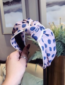 Fashion Pink Polka Dot White Knot Knotted Wide-brimmed Headband