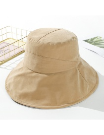 Fashion Khaki Peach Velvet Solid Color Cloth Hat