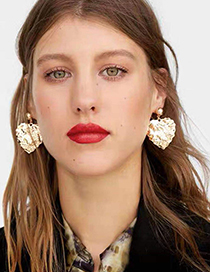 Fashion Gold Alloy Love Earrings