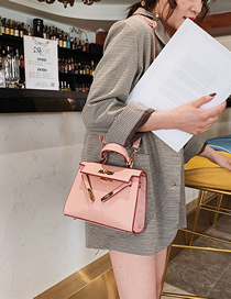 Fashion Pink Vertical Crossbody Single Shoulder Kelly Bag
