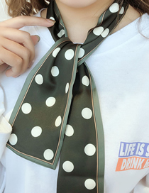 Fashion Big Dot Gray Green Houndstooth Multifunctional Small Scarf
