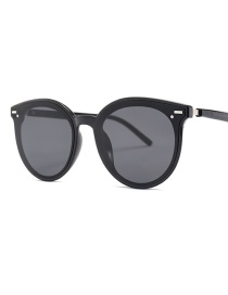 Fashion Black Frame Black Gray C1 Big Box Sunglasses