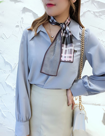 Fashion Gray Long Strip Of Thin Solid Scarves