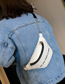 Fashion White Shoulder Diagonal Chest Bag
