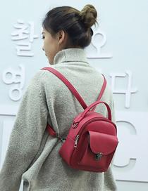 Fashion Red One-shoulder Portable Backpack