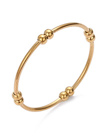 Fashion Gold Gold-plated Stainless Steel Geometric Ring