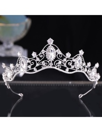 Fashion Silver Crystal Crown Hair Accessories