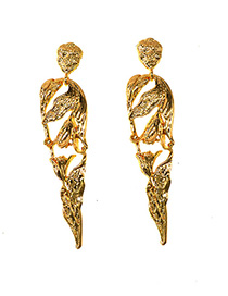 Fashion Gold Metal Human Earrings
