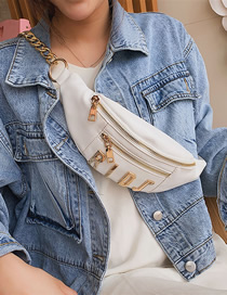 Fashion White Wide Shoulder Strap Shoulder-slung Chest Bag