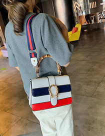 Fashion White Bamboo Hand Stitching Shoulder Bag