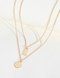 Fashion Gold Round Rectangular Necklace Set