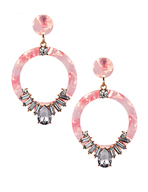 Fashion Pink Alloy Resin Earrings