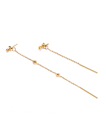 Fashion Gold Stainless Steel Gold-plated Geometric Hollow Diamond Stud Earrings
