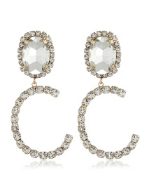 Fashion C Gemstone Earrings