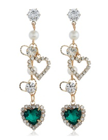 Fashion Green Love Earrings