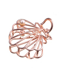 Fashion Rose Gold Alloy Hollow Pearl Shell Grab