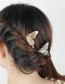 Fashion Gold Metal Butterfly Comb