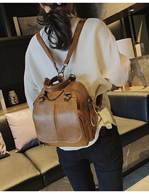 Fashion Brown Crossbody Portable Multi-purpose Shoulder Bag