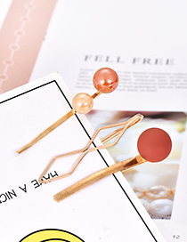 Fashion Orange Alloy Resin Ball Hair Clip Set