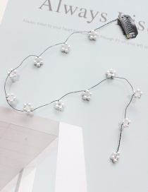 Fashion Pearl Section - White Flower Comb Hair Clip