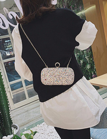 Fashion White Diamond Sequined Laser Shoulder Crossbody Bag