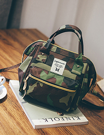 Fashion Camouflage Canvas Backpack Shoudlder Bag