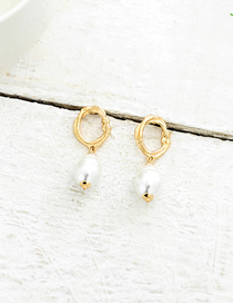 Fashion Gold Imitation Pearl Earrings