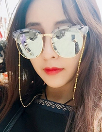 Fashion Gold Alloy Pearl Glasses Hanging Chain