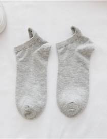 Fashion Light Grey Little Monster Embroidery Socks 8 Pairs Gift Box
