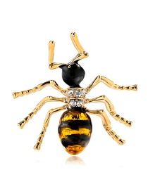 Fashion Color Alloy Dripping Bee Brooch