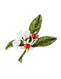 Fashion Color Alloy Dripping Pearl Flower Brooch