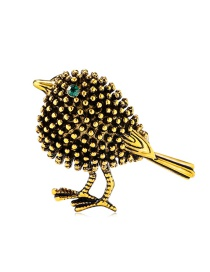 Fashion Gold Alloy Drop Oil And Diamond Bird Brooch