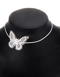 Fashion White Lace Butterfly Clavicle Chain Choker