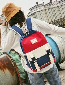 Fashion Blue Contrast Shoulder Bag