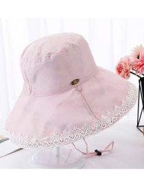 Fashion Pink Lace Double-sided Foldable Fisherman Hat