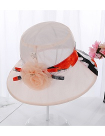 Fashion Snow Bud Powder Foldable Color Matching Flower Large Basin Cap
