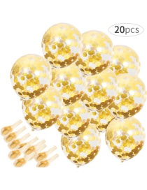 Fashion 20 Gold Sequin Balloons Floating Sequined Latex Balloon Set