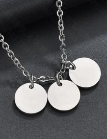 Fashion Steel Color Glossy Round Necklace
