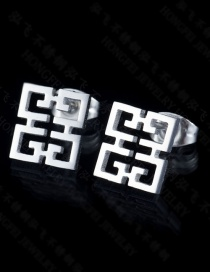 Fashion Compact Color Resilience Pierced Earrings
