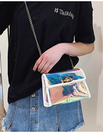 Fashion White Laser Transparent Shoulder Messenger Bag