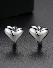 Fashion Silver Heart Earrings