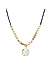 Fashion A Gold Multilayer Cross Pendant Necklace