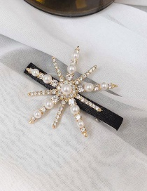 Fashion A#paragraph Black Diamond Hair Clip